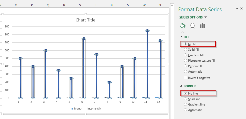 How to create a lollipop chart in Excel