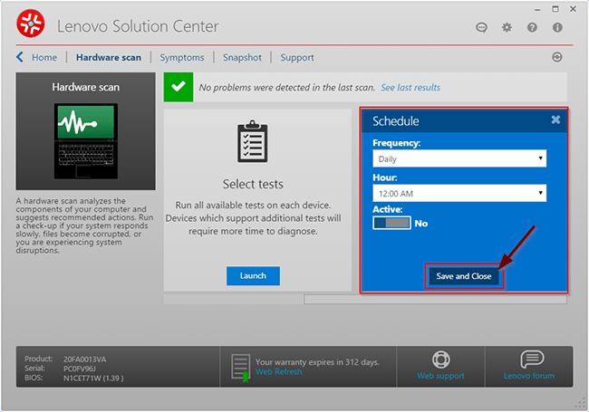 disable-auto-scan-hardware-lenovo-solution-center