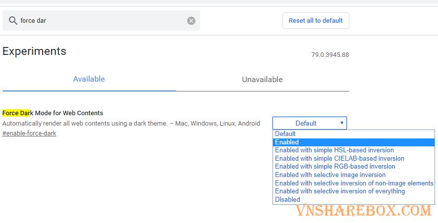 Bật Dark Mode trong Google Chrome
