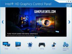 Intrl HD Graphics Control Panel