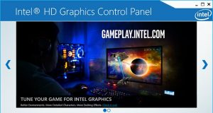 Intrl HD Graphics Control Panel