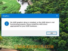 Lỗi No AMD Graphics Driver is installed