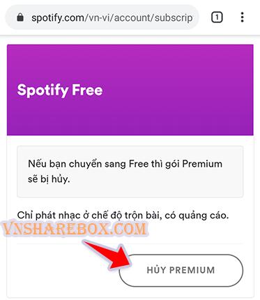 Cách hủy premium Spotify