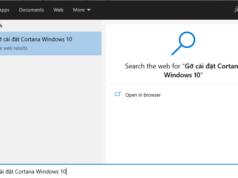 Gỡ cài đặt Cortana Windows 10