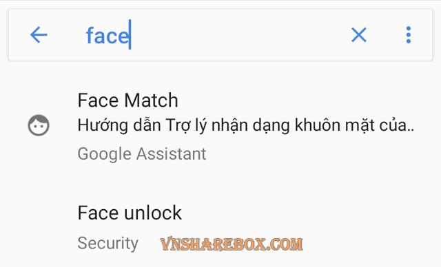 Tìm kiếm trong Setting Android